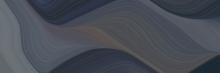 abstract colorful banner with dark slate gray, old lavender and very dark blue colors. fluid curved flowing waves and curves for poster or canvas - 376767893