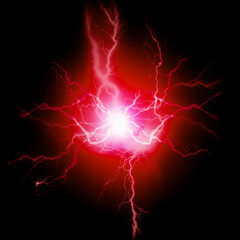 Lightning Energy Electricity Bolts Red Pure Power
