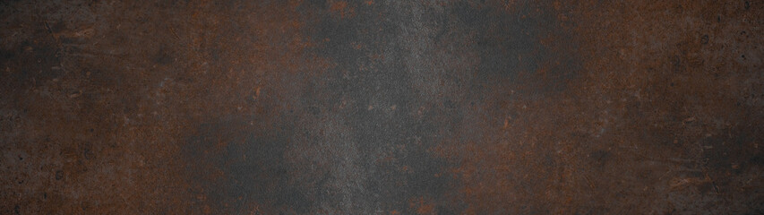 Grunge rusty dark metal stone background texture banner panorama
