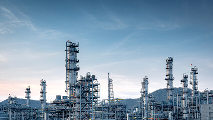 Panorama view at the Industry oil and gas refinery plant ,Located in a large petrochemical industrial area, Thailand Wall mural