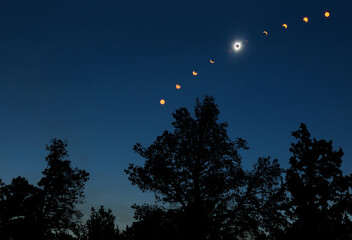 Composite image of total solar eclipse