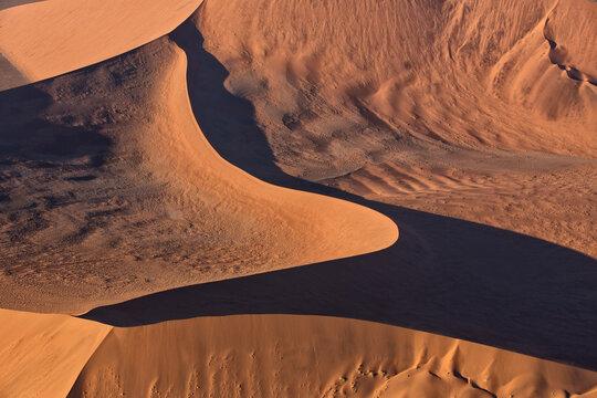 Aerial view of Sossusvlei dune