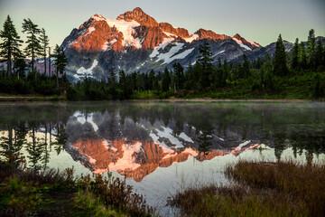 Mount Shuksan reflecting in Picture Lake