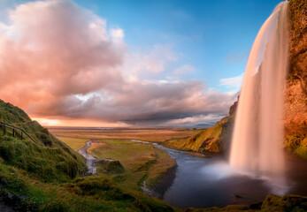 View of Seljalandsfoss waterfall