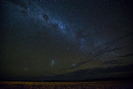 View of milky way over Namib Desert at night