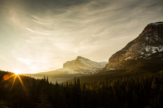 Scenic view of Glacier National Park