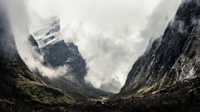 Scenic view of Annapurna Base Camp Trek in Nepal