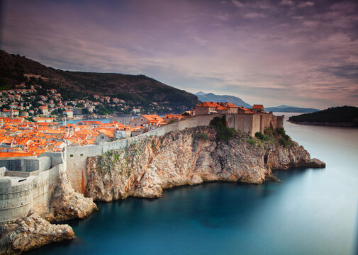 View of Walled Old Town of Dubrovnik, Croatia