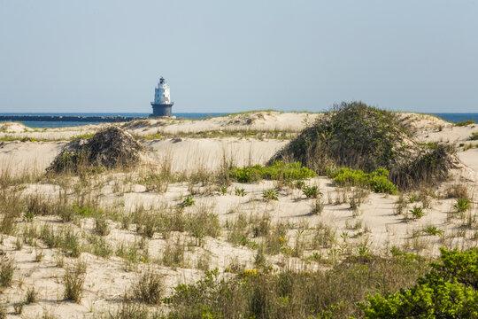 Harbor of Refuge Lighthouse in Lewes, Delaware