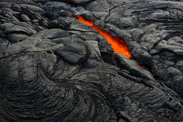 Active lava tube in Hawaii Volcanoes National Park