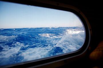 Sea through boat window