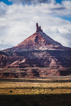 View of North Six Shooter tower in Bears Ears National Monument