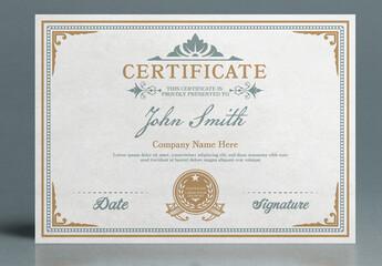 Vintage Certificate Layout