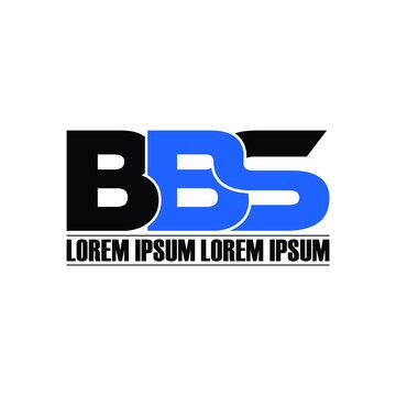 BBS letter monogram logo design vector