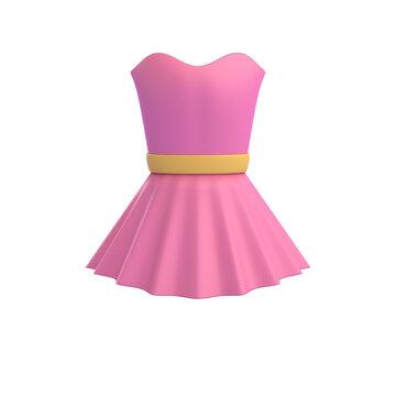 pink princess dress 3D RENDER