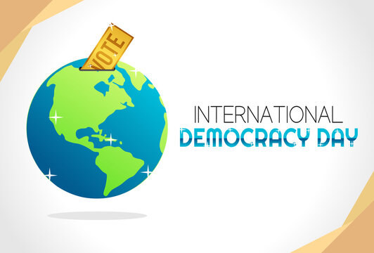 Vector graphic of international democracy day good for international democracy day celebration. flat design. flyer design.flat illustration.