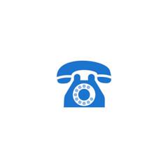 Fototapeta telephone icon vector symbol isolated illustration white background