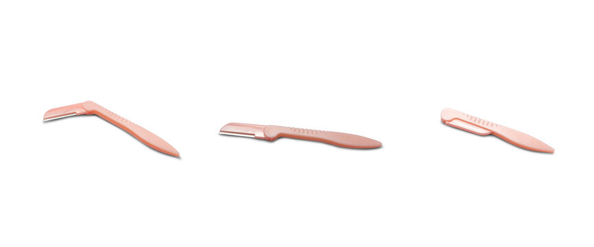 Razor for eyebrows on a white background,with clipping path