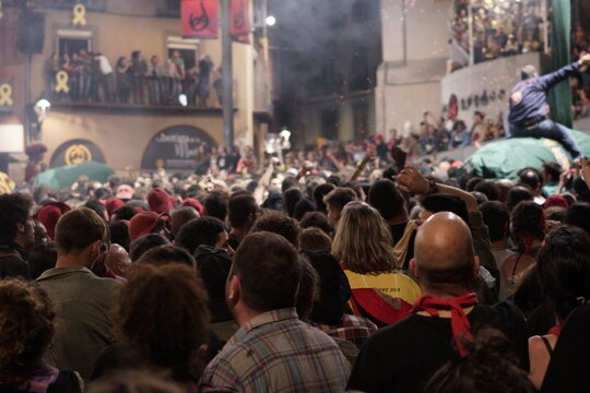 Patum de Berga. Corpus Christi celebration. Barcelona. Catalonia,Spain