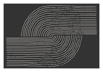 Trendy abstracte esthetische creatieve minimalistische artistieke handgetekende compositie