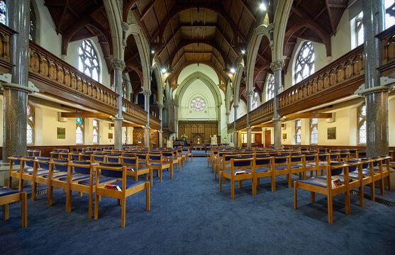 The interior of Wesley Memorial Church. Oxford University. England