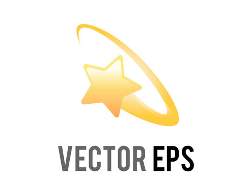 Vector cartoon styled stylised star swirling emoji icon in a yellow ring circle, feeling dizzy symbol