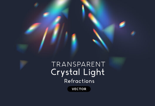 Overlay crystal light refraction pattern for adding effects to background layouts. Vector illustration.
