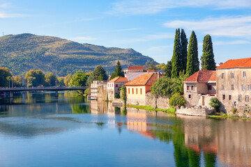 Trebinje town located in the Republika Srpska in Bosnia and Herzegovina . Southernmost city in Bosnia and Herzegovina situated on the banks of Trebisnjica river