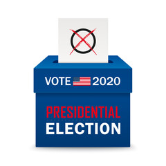 Voting Box Paper Presidential Election 2020