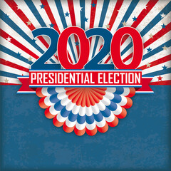 Presidential Election 2020 Bunting Retro Sun