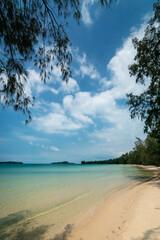 Long Beach on Koh Ta Kiev island near Sihanoukville Cambodia