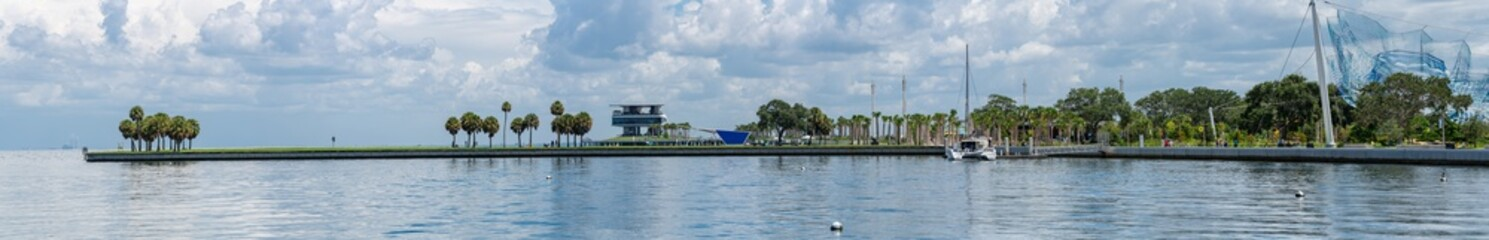Stitched image panorama of the St Petersburg FL pier