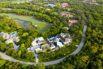 Aerial image of Michael Jordans house mansion Jupiter Florida USA