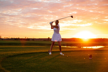 Female Spend Active Time Playing Golf .