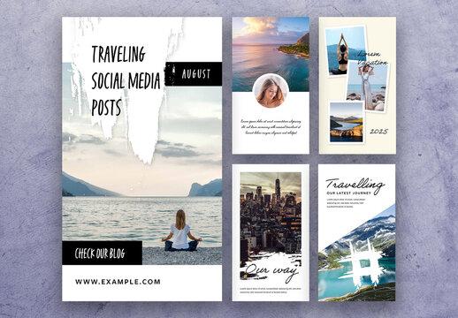 Modern Traveling Social Media Story Layouts