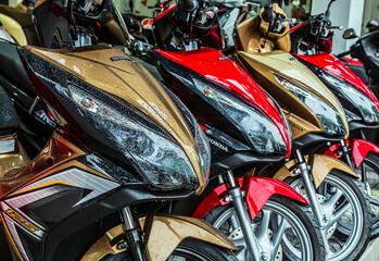Honda new motor bike made in Japan motorcycle Showroom for sale or rental,Ho Chi Minh City, Vietnam - December 08, 2014.