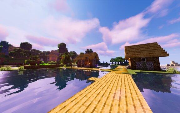 village côtier Minecraft