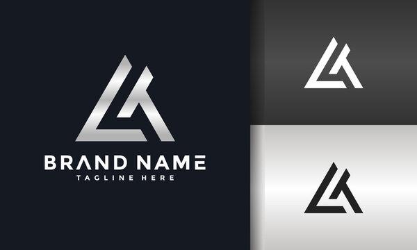 triangle letter LT logo