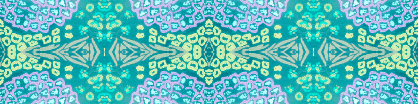 Hand Drawn Seamless Geometric Painting. Breeze Color Ikat Pattern. Repeated Ocean Blue Grunge Ethnic. Brasilian Tiles. Endless Gentle Breeze Savannah Print. Mint Green Aztec Ornament.
