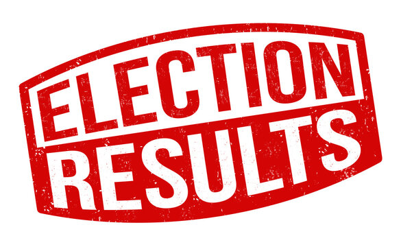 Election results sign or stamp