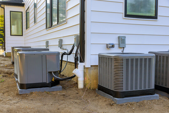 Air conditioning system in the installation under construction new house