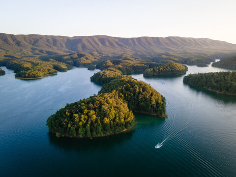 Aerial View of South Holston Lake in Eastern Tennessee