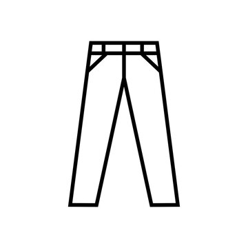 Trouser icon with line style vector for your web design, logo, UI. illustration