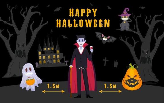 Halloween covid poster