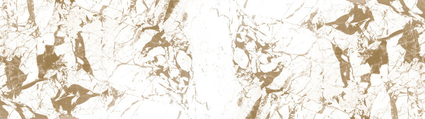 Marbled background banner panorama - High resolution white brown beige Carrara marble stone texture