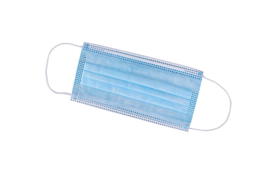 Surgical mask isolated on white background