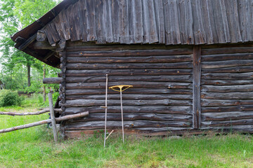 Traditional farming tools - scythe and rack