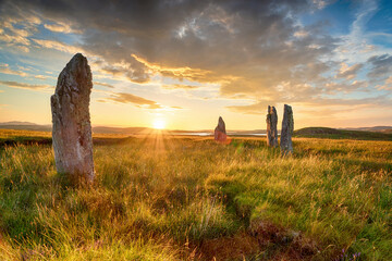 Standing stones at the Callanish IV stone circle