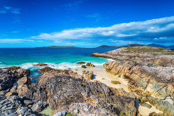 Wall Mural - Rocky coves at Seilebost on the Isle of Harris