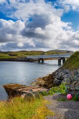 Wall Mural - The Bridge over the Atlantic linking the Isle of Great Bernera